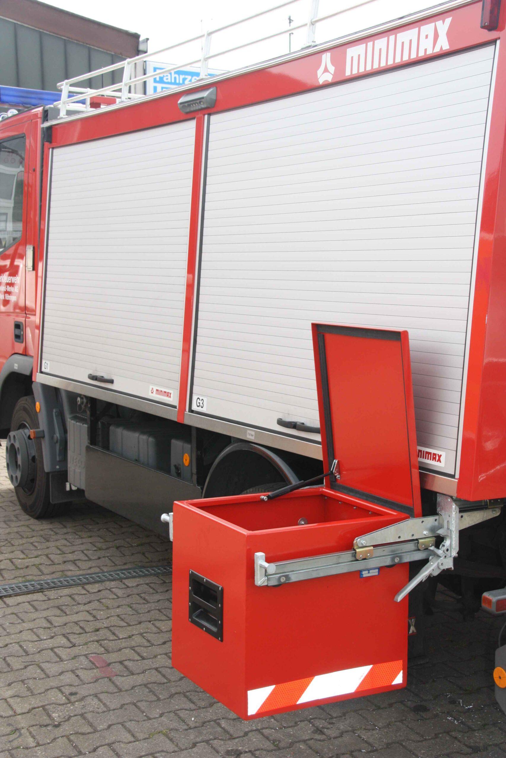 Stauraum für Feuerwehrauto